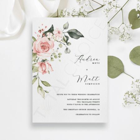 Simplistic Floral Invitation