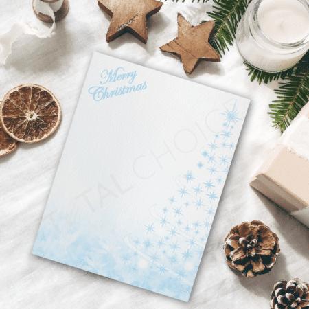 Blue Christmas Christmas Letterhead