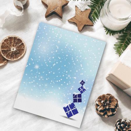 Blue Christmas Presents Christmas Letterhead