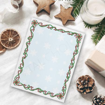 Candy Cane Swirls Christmas Letterhead