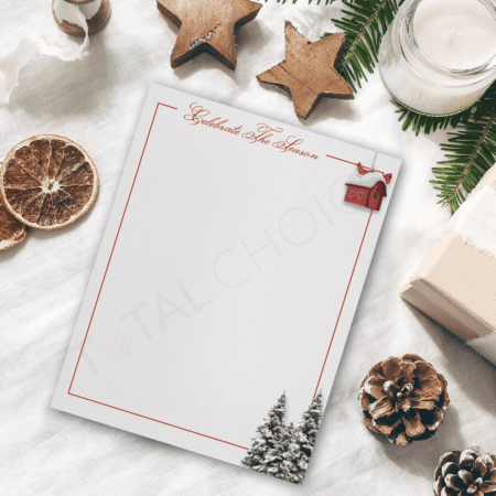Celebrate the Season Christmas Letterhead