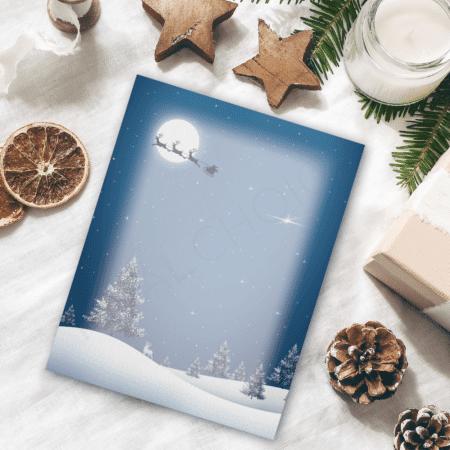 Christmas Moon Christmas Letterhead