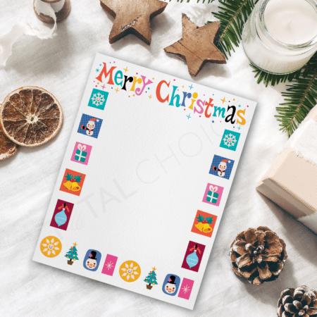 Cute Christmas Christmas Letterhead