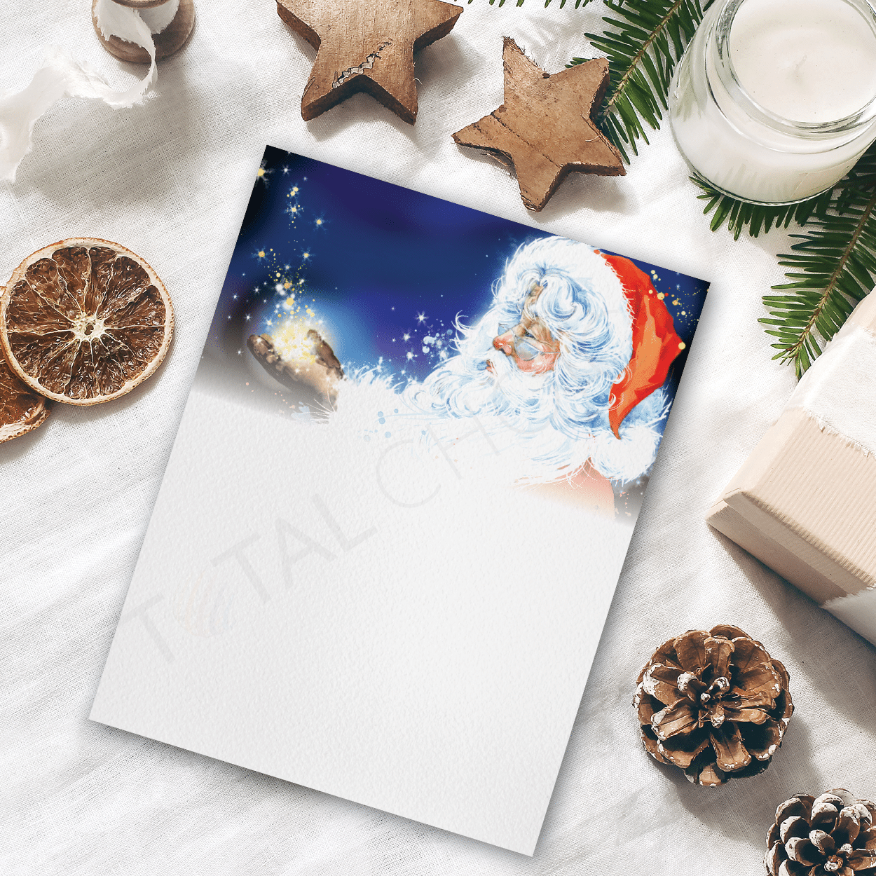 Elf In Charge Christmas Letterhead