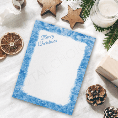 Frosty Window Holiday Letterhead