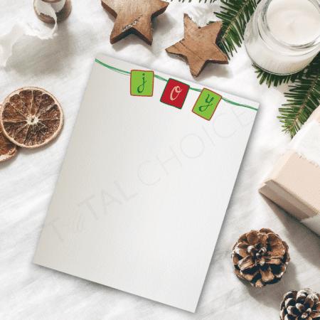 Hanging Joy Holiday Letterhead