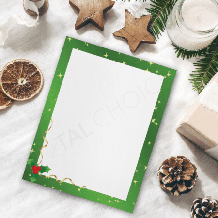 Holly Christmas Holiday Letterhead