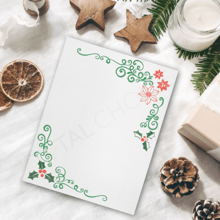 Holly Leaves Christmas Letterhead