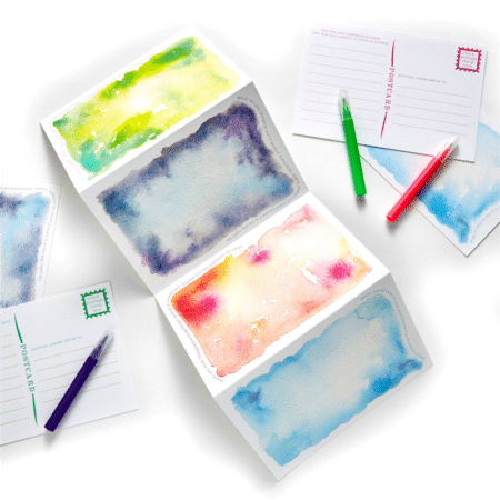Imagination Watercolor Postcards