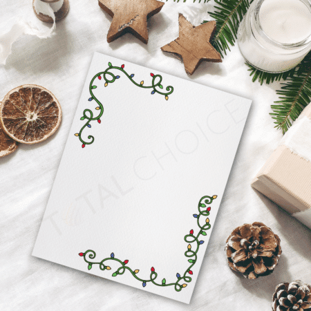 Lights Christmas Letterhead