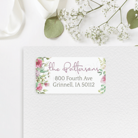 Peony Bliss Address Label