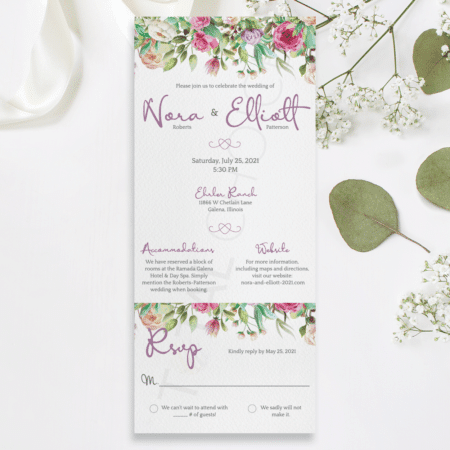 Peony Bliss All-In-One Invitation