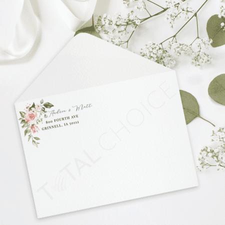 Simplistic Floral Envelope