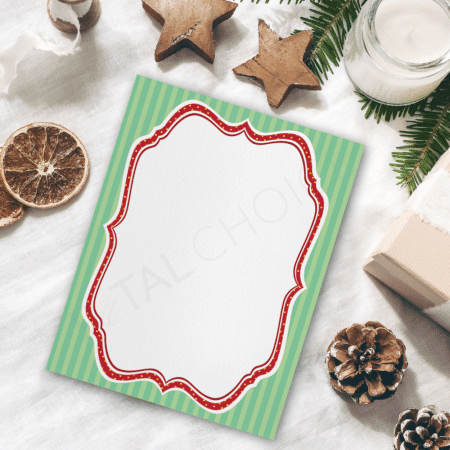 Scrolls and Stripes Holiday Letterhead