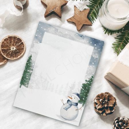Snowstorm Holiday Letterhead
