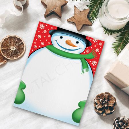 Spiffy Snowman Holiday Letterhead