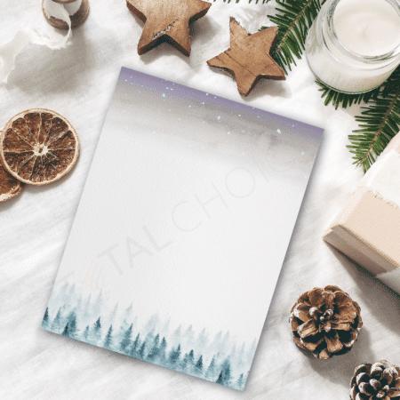 Starry Night Holiday Letterhead