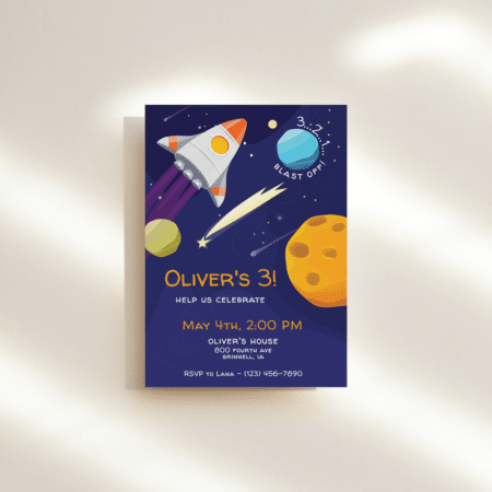 Deep Space Birthday Invitation