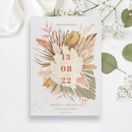 Boho Botanical Save the Date