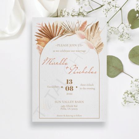 Boho Botanical Invitation