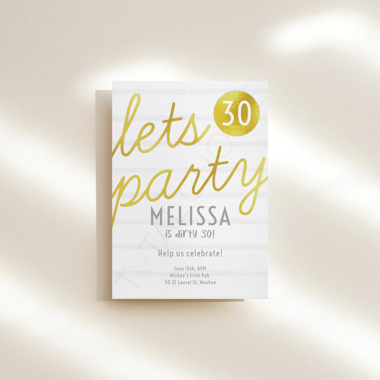 Brilliance Birthday Invitation