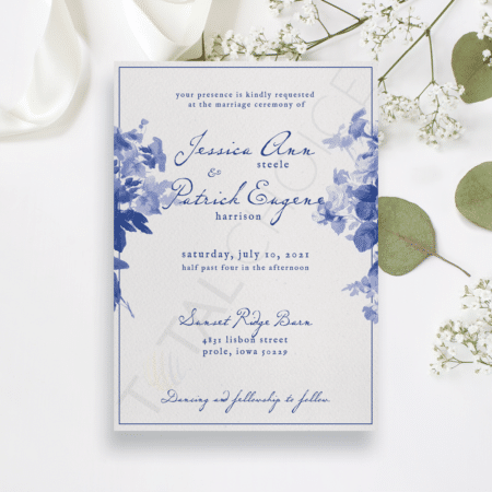 China Blue Invitation