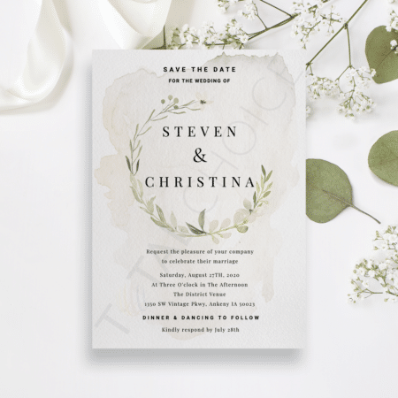 Dainty Foliage Save the Date