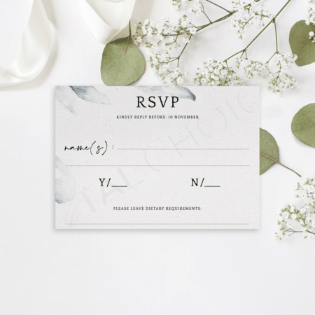 Elegant Blue Watercolor RSVP