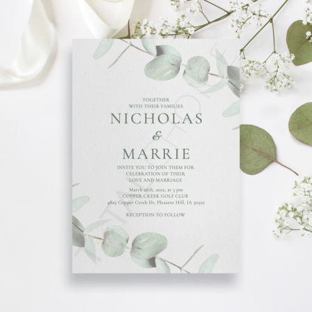 Eucalyptus Sprig Invitation