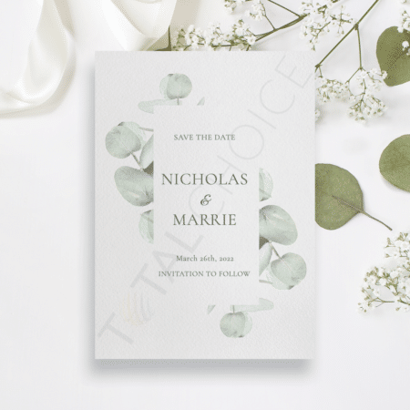 Eucalyptus Sprig Save the Date