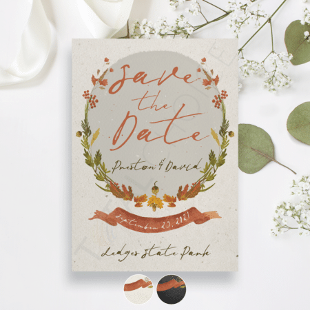 Fall Crisp Floral Save the Date
