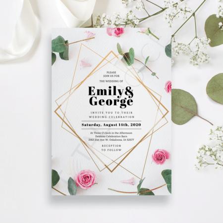 Eucalyptus Rose Invitation