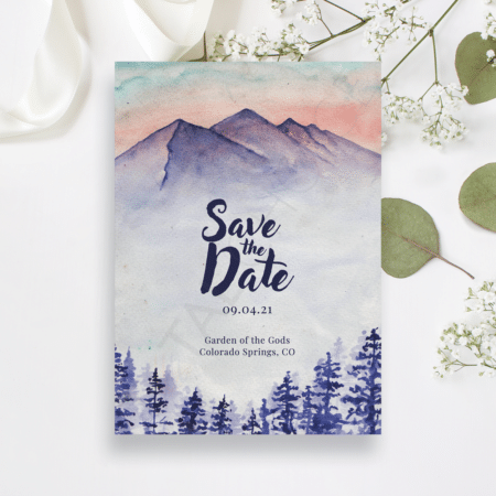 Majestic Mountain Save the Date