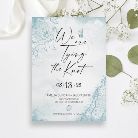 Nautical Watercolor Save the Date