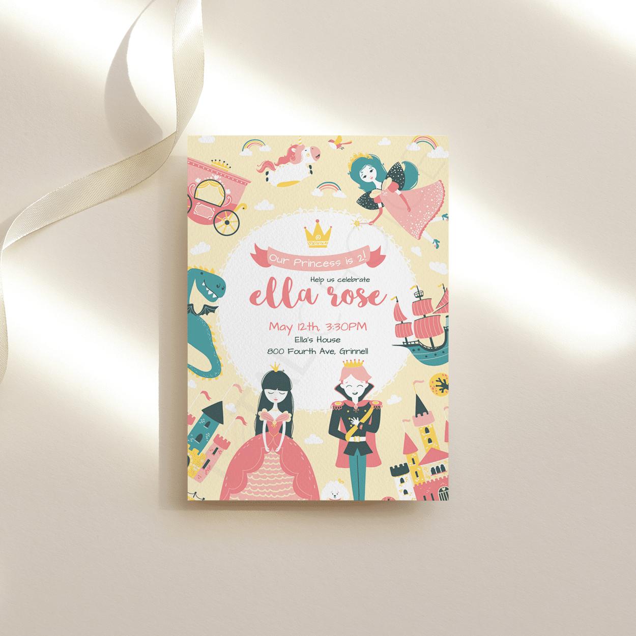 Prince and Princess Birthday Invitation