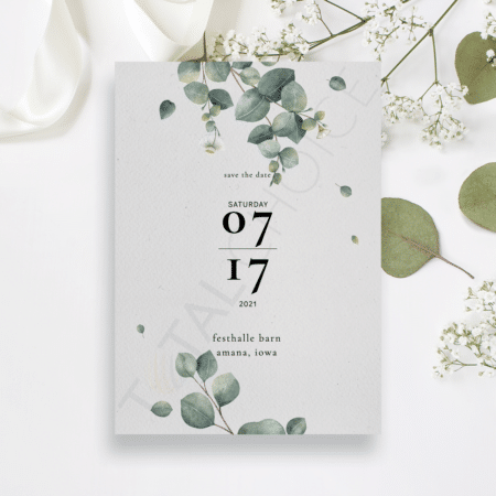 Eucalyptus Foliage Save the Date