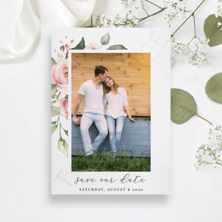 Simplistic Floral Save the Date