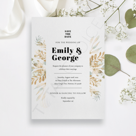 Boho Classy Floral Save the Date