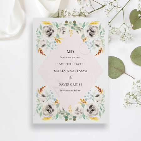 Wild Floral Save the Date