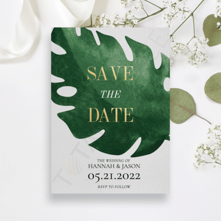 Tropical Monstera Save the Date
