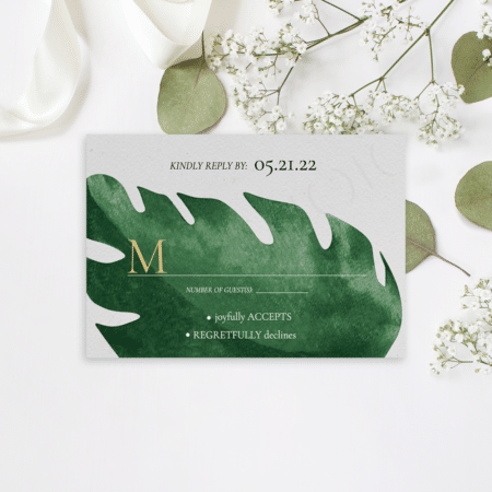 Tropical Monstera RSVP