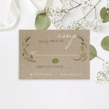 Vintage Watercolor Foliage RSVP
