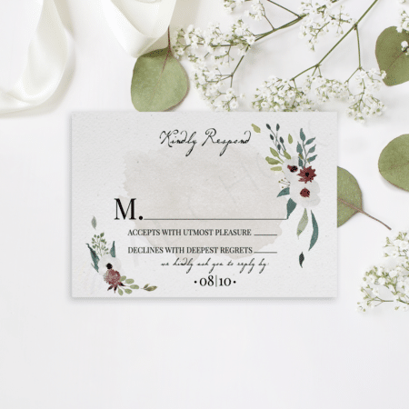 Floral Watercolor Splash RSVP