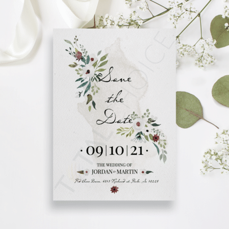 Floral Watercolor Splash Save the Date