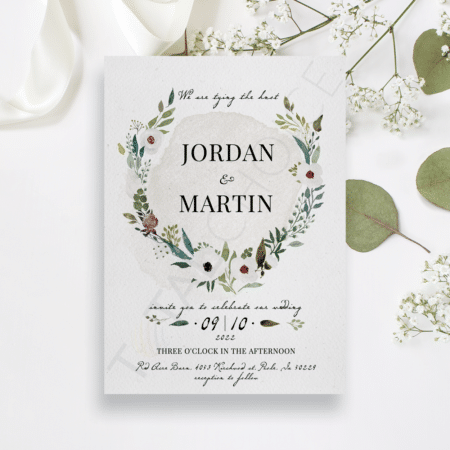 Floral Watercolor Splash Invitation