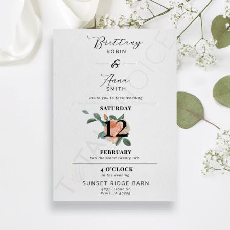 Mod Peony Floral Invitation
