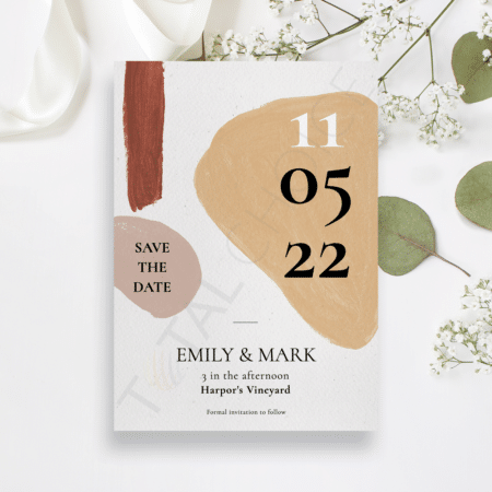 Modern Abstract Save the Date
