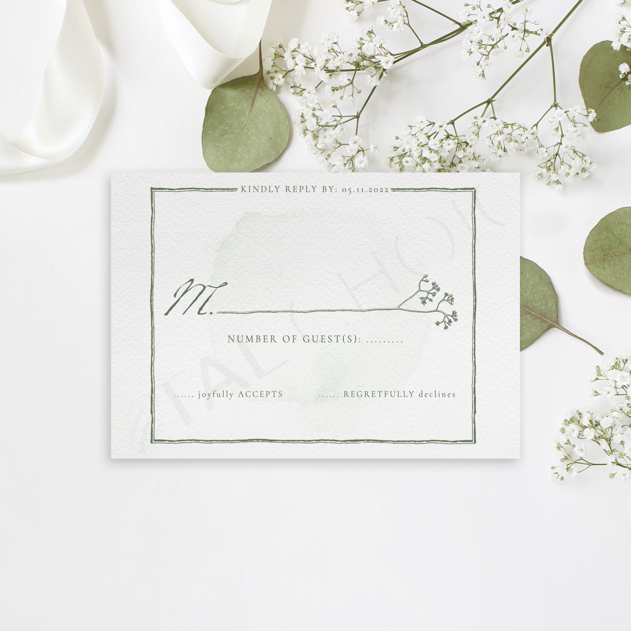 Natural Wildflower RSVP
