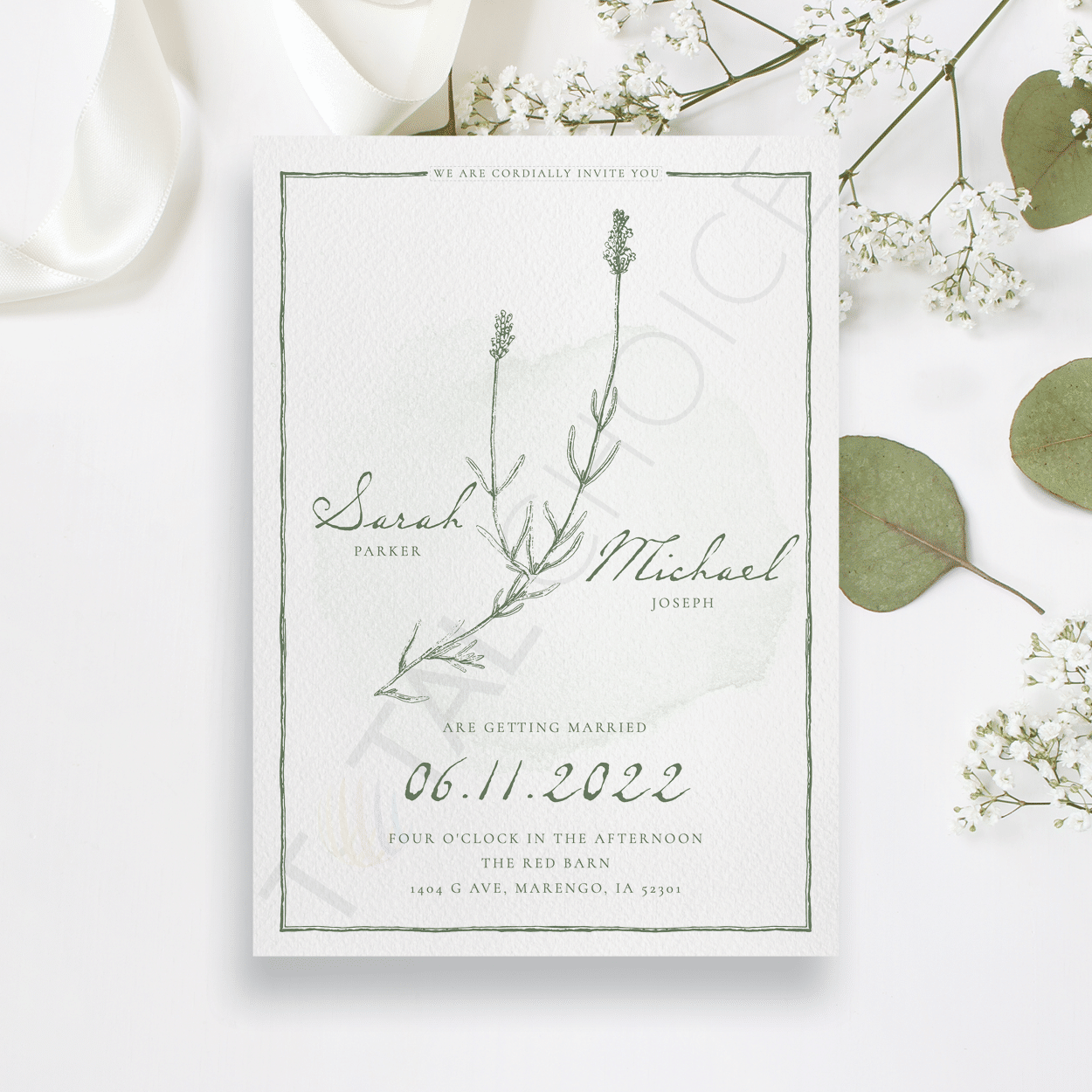 Natural Wildflower Invitation