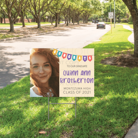 Congrats Bunting Graduation Yard Sign